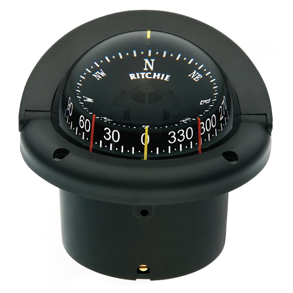 Ritchie HF-743 Helmsman Combidial Compass - Flush Mount - Black