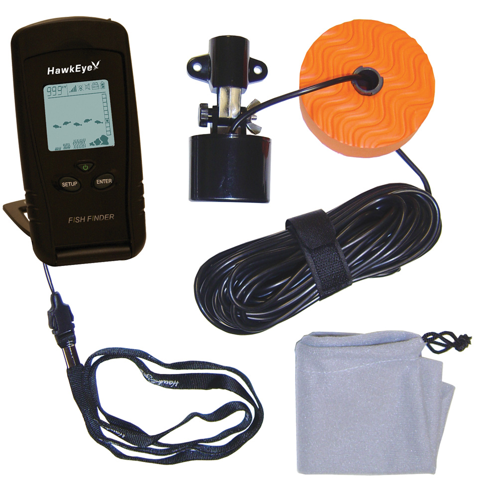 hawkeye portable fish finder w weedid