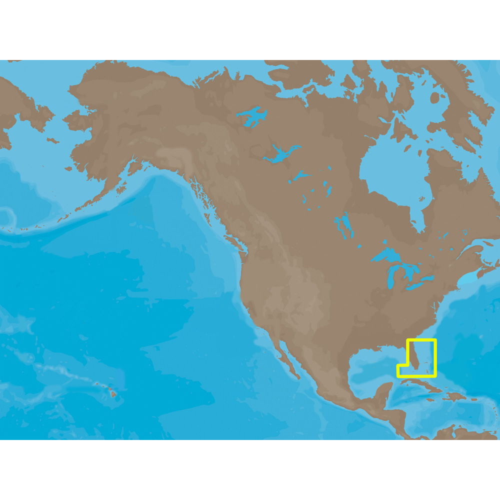 C-MAP NT+ NA-C315 - Straits of Florida: Bathy - C-Card