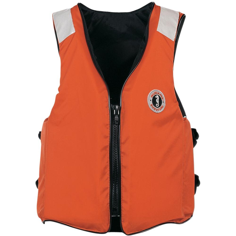 Mustang Standard Vest w/SOLAS Tape - MD - Orange
