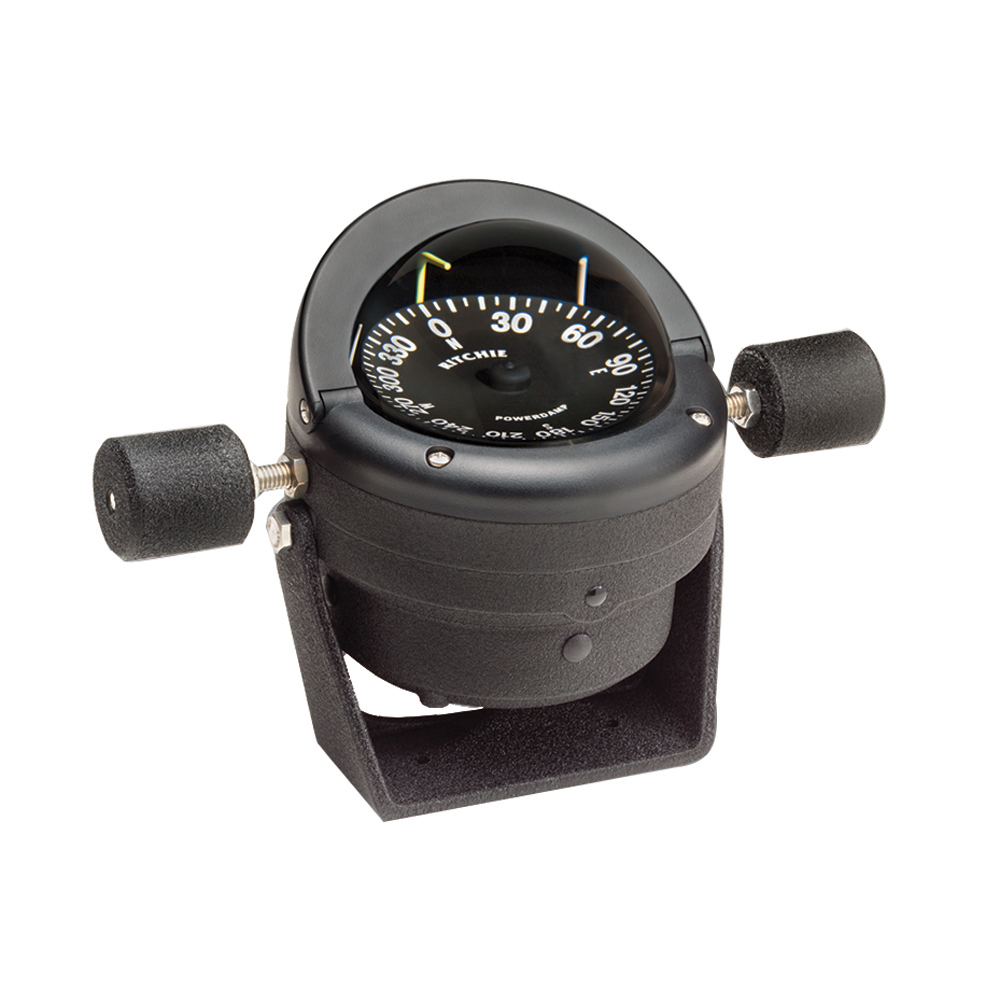 Ritchie HB-845 Helmsman Steel Boat Compass - Bracket Mount - Black