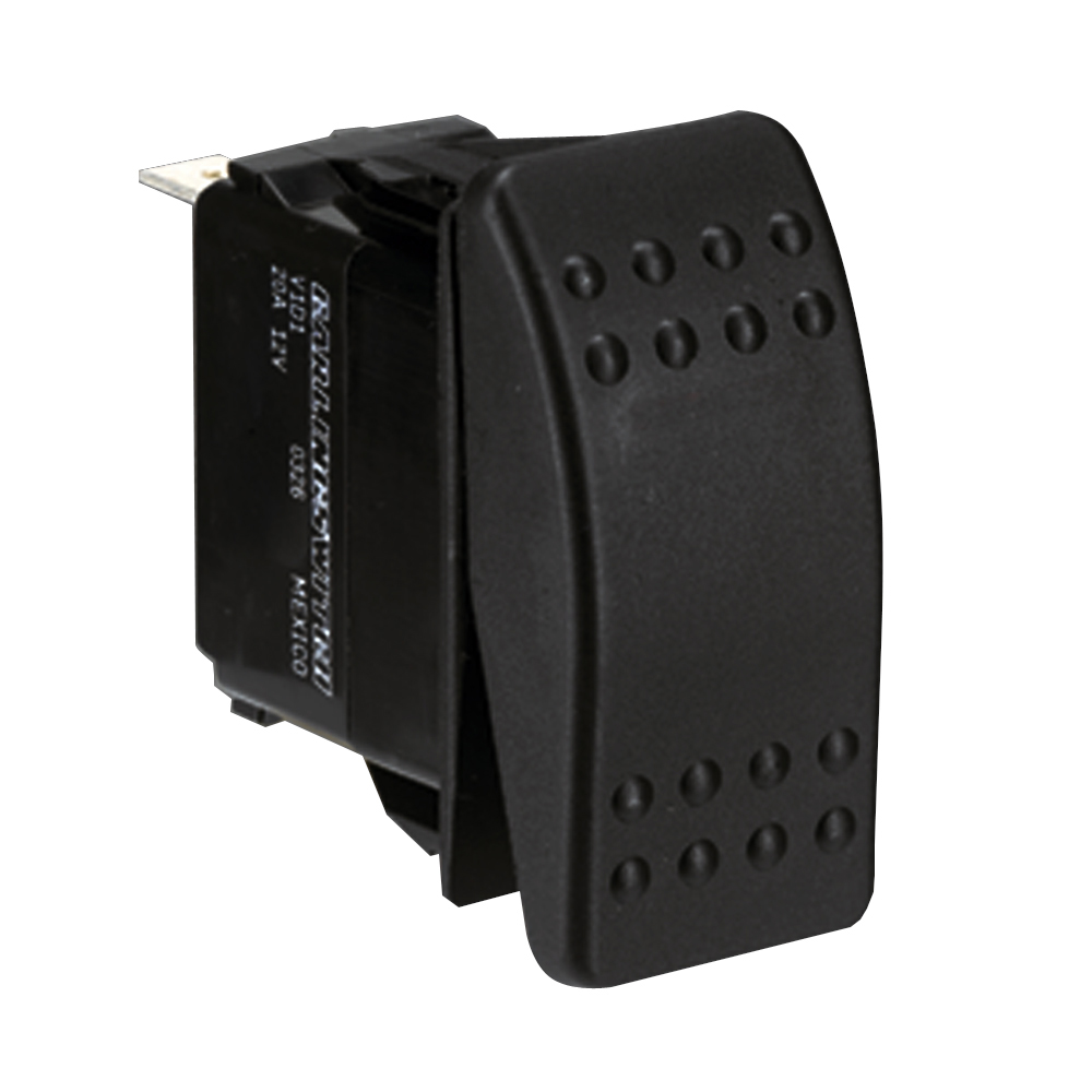 Paneltronics DPDT ON/OFF/ON Waterproof Contura Rocker Switch w/LEDs - Black