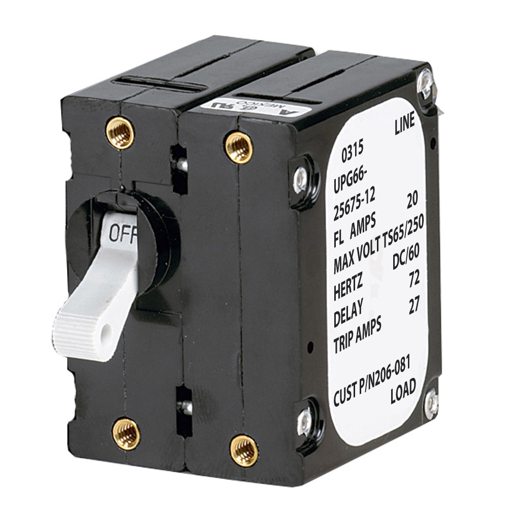 Paneltronics 'A' Frame Magnetic Circuit Breaker - 20 Amps - Double Pole