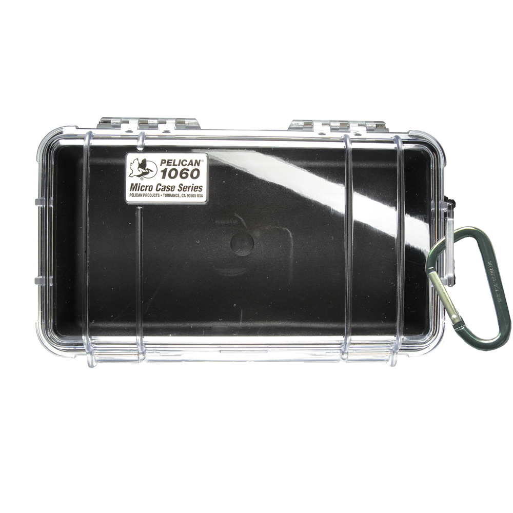 Pelican 1060 Micro Case w/Clear Lid - Black