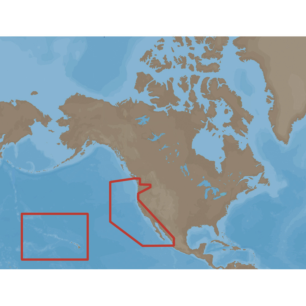 CMap NaM CCard Format USWest Coast And Hawaii NaMCCard - Full map of us west