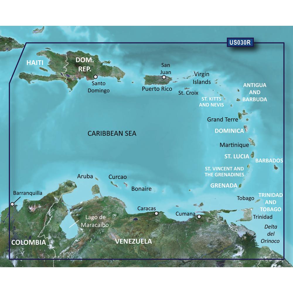 Garmin BlueChart® g2 Vision® - VUS030R - Southeast Caribbean - microSD™/SD™
