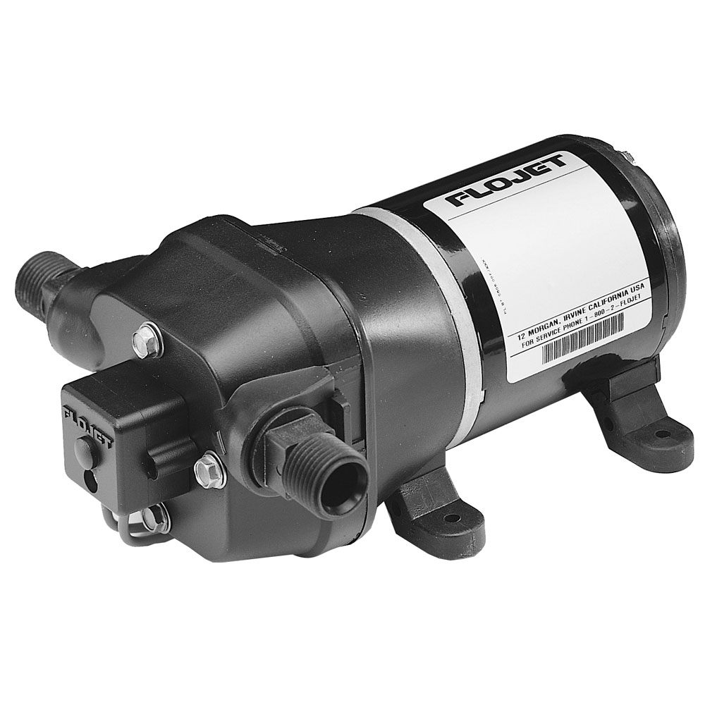 FloJet Deck Wash Pump - 40psi/3.5GPM/12V w/Nozzle
