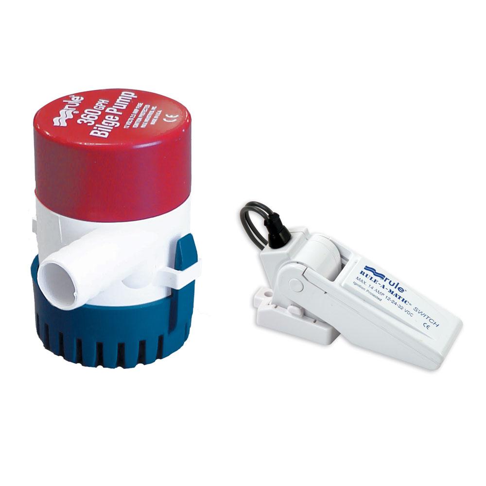 Rule 360 G.P.H. Bilge Pump w/Rule-A-Matic® Float Switch