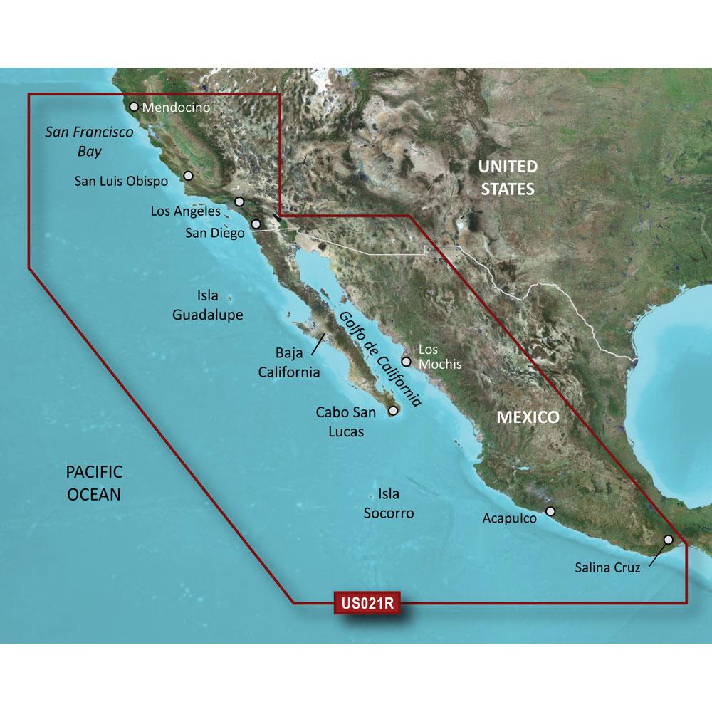 Garmin BlueChart® g2 HXUS021R California - Mexico - microSD™/SD™