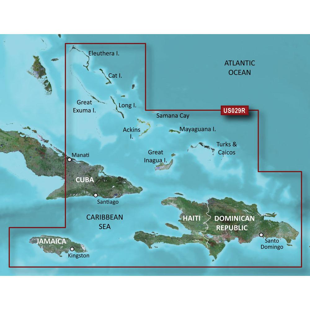 Garmin BlueChart® g3 HD - HXUS029R - Southern Bahamas - microSD™/SD™