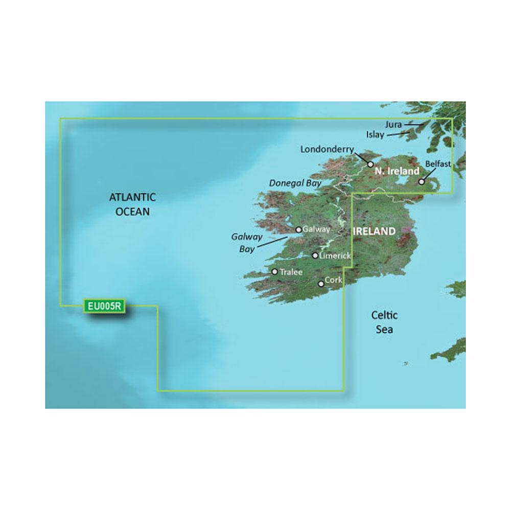 Garmin BlueChart® g3 HD - HEU005R - Ireland, West Coast - microSD™/SD™