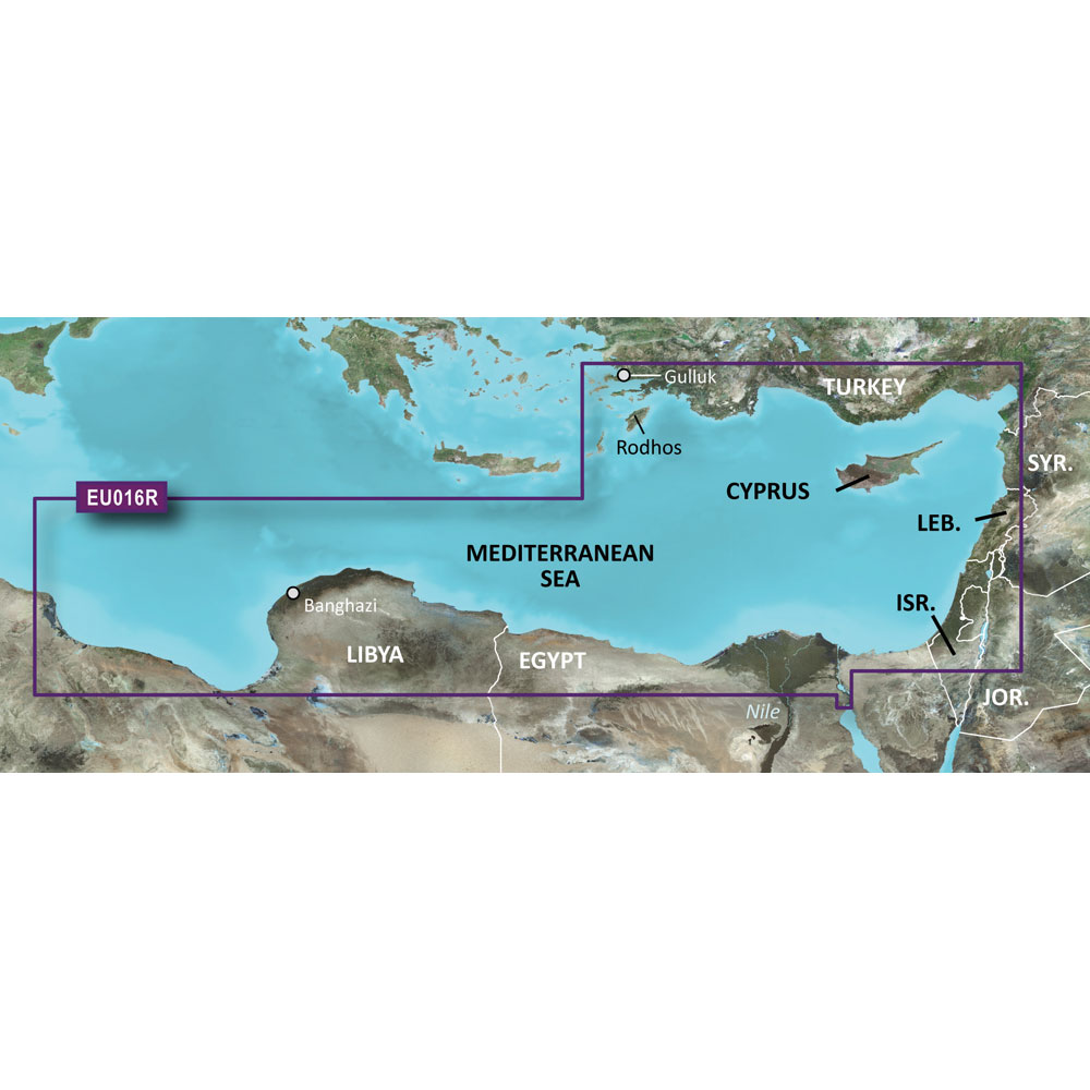 Garmin BlueChart® g3 HD - HXEU016R - Mediterranean Southeast - microSD™/SD™