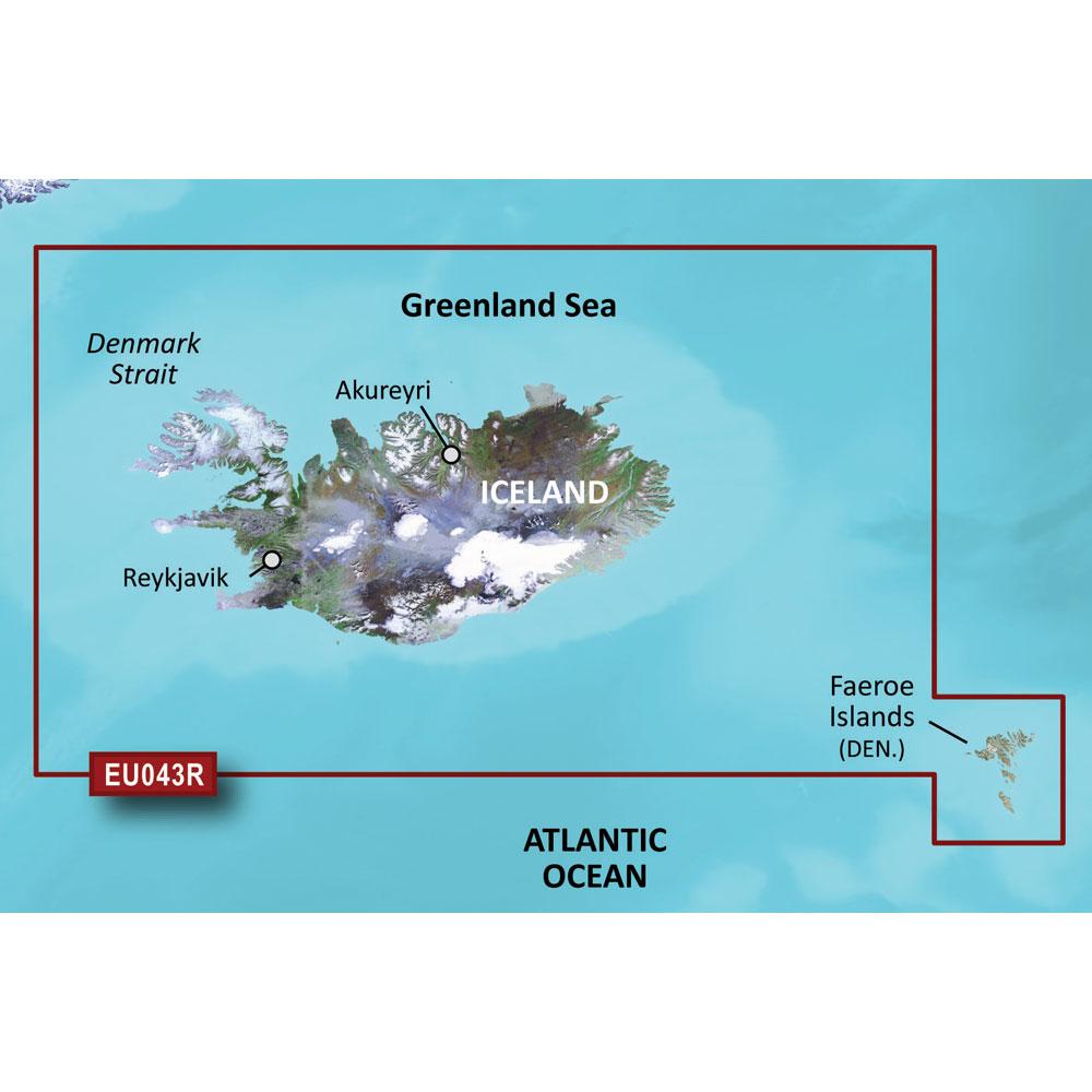 Garmin BlueChart® g3 HD - HXEU043R - Iceland & Faeroe Islands - microSD™/SD™