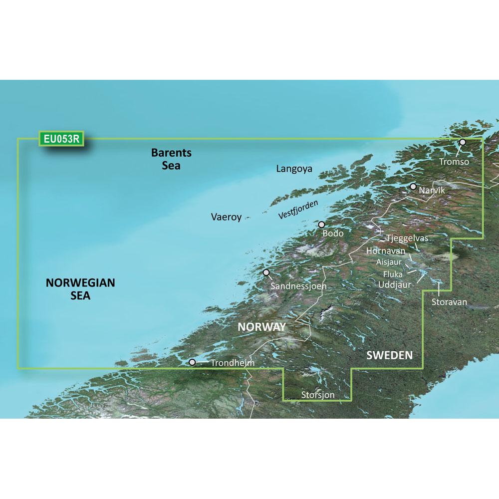 Garmin BlueChart® g3 HD - HXEU053R - Trondheim - Tromso - microSD™/SD™