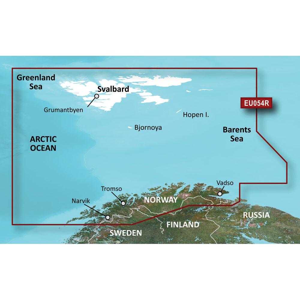 Garmin BlueChart® g3 HD - HXEU054R - Vestfjd - Svalbard - Varanger - microSD™/SD™