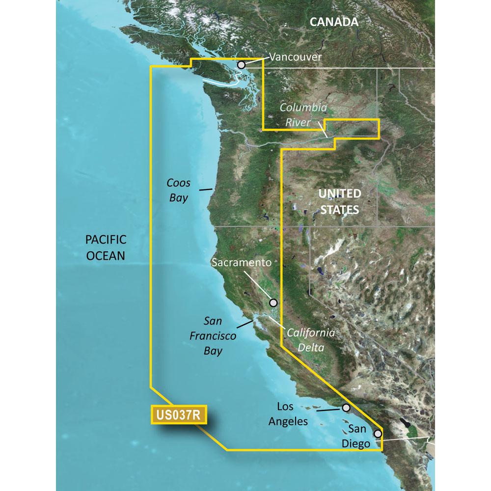 Garmin Bluechart® g2 Vision® - VUS037R - Vancouver - San Diego - microSD™/SD™