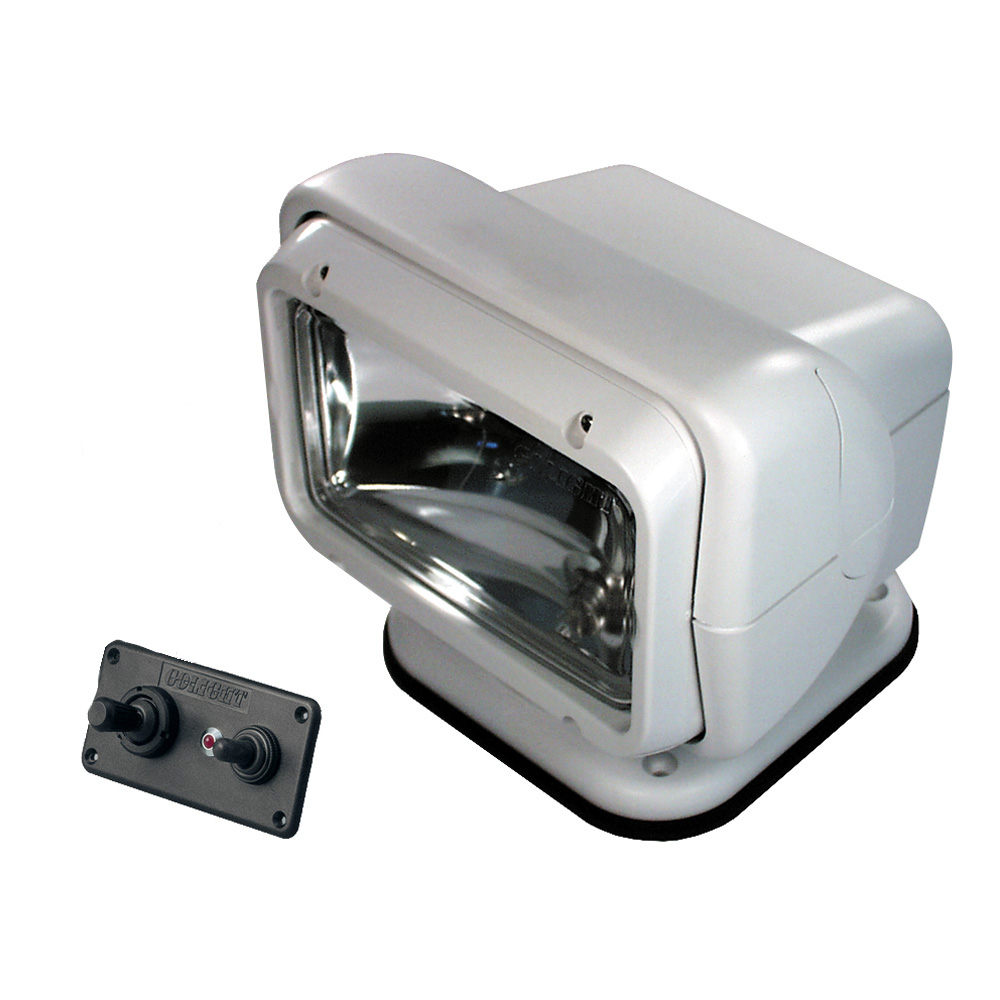 Golight Permanent Mount Searchlight w/Dash Mounted Remote - White