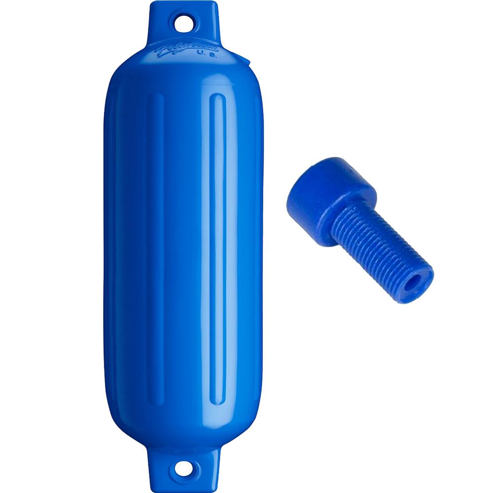 Polyform G-4 Twin Eye Fender 6.5 x 23 - Blue w/Air Adapter