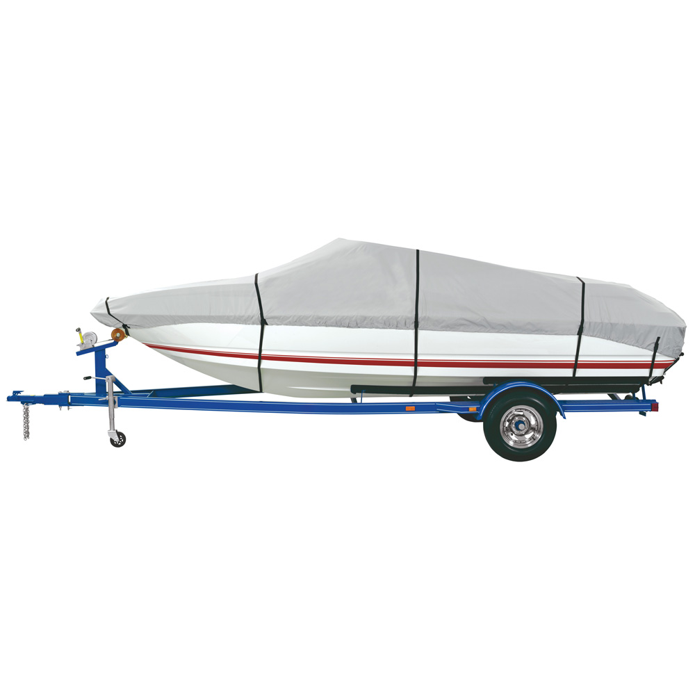 Dallas Manufacturing Co. Heavy Duty Polyester Boat Cover D 17'-19' V-Hull & Runabouts - Beam Width to 96