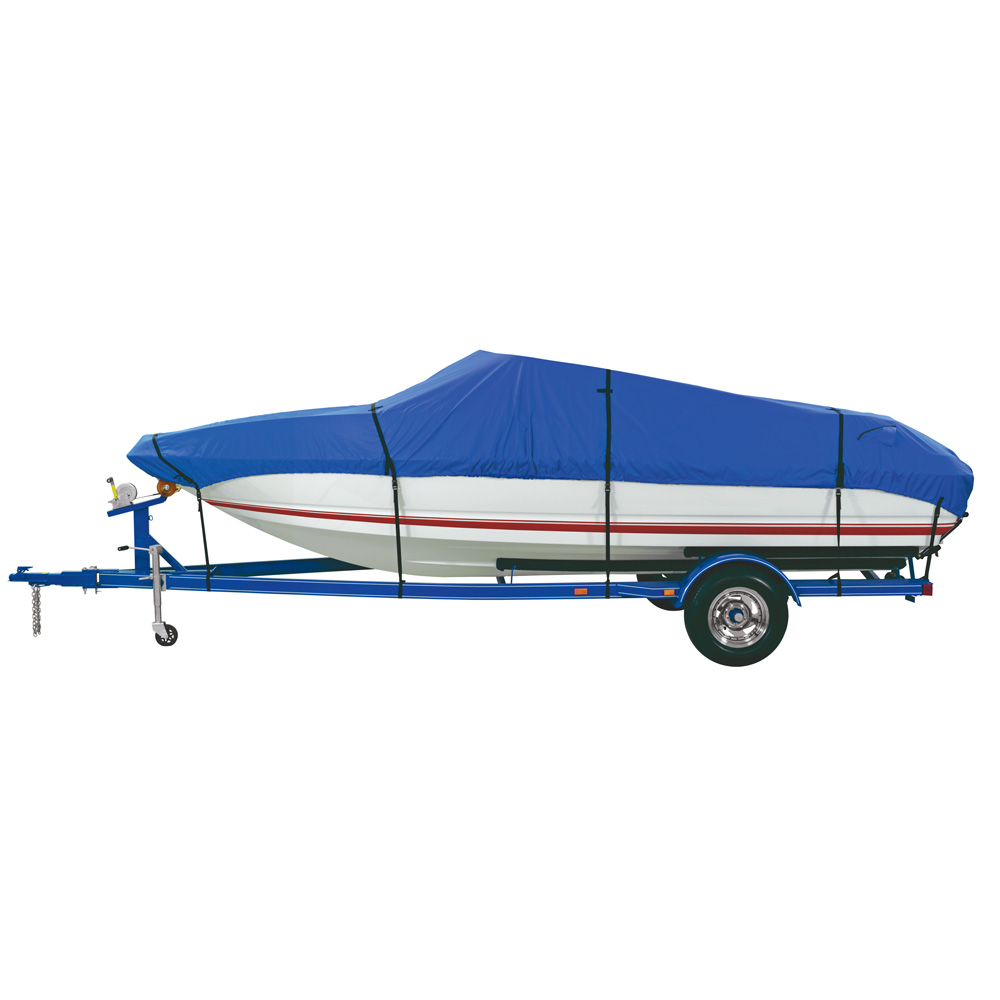 Dallas Manufacturing Co. Custom Grade Polyester Boat Cover A 14'-16' V-Hull Fishing Boats - Beam width to 68