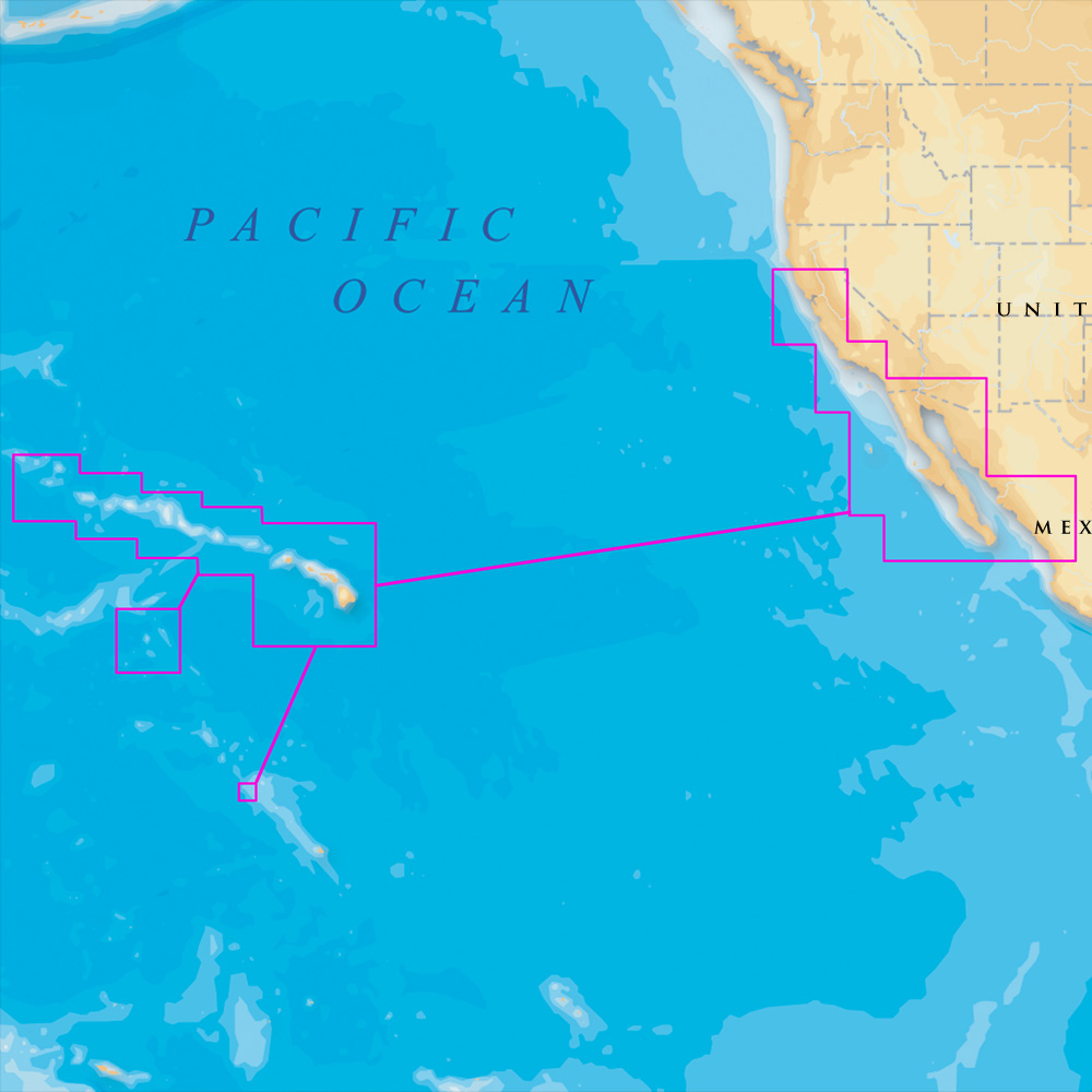 Navionics Platinum+ - Hawaii, California South to Baja - microSD™/SD™