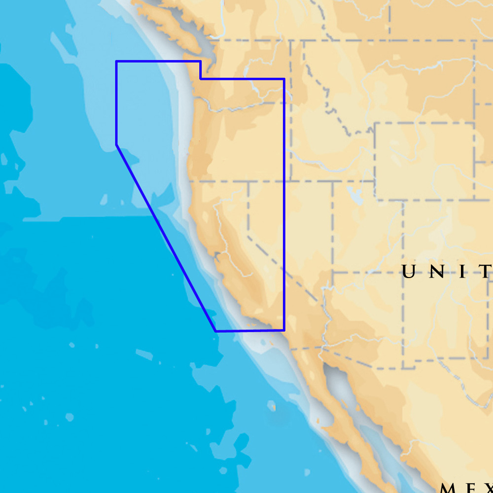 Navionics Platinum+ Oregon & California - CF
