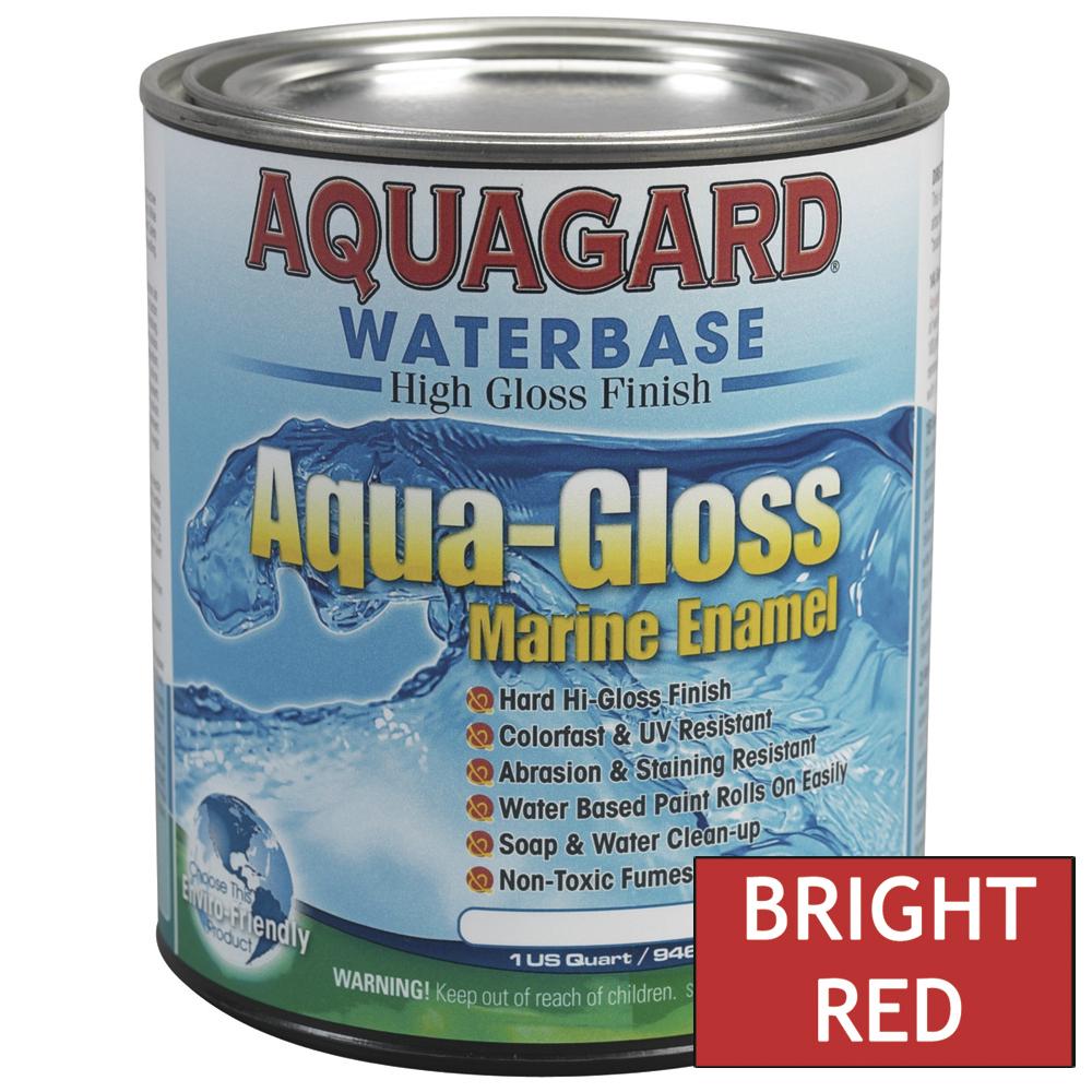 Aquagard Aqua Gloss Waterbased Enamel - 1Qt - Bright Red