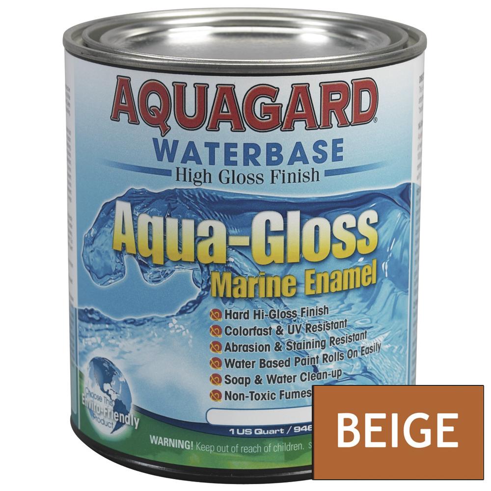 Aquagard Aqua Gloss Waterbased Enamel - 1Qt - Beige