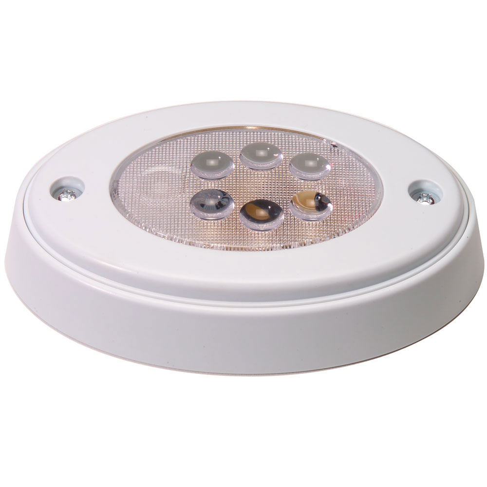 Innovative Lighting 6-LED Oval Recess Compartment Light White w/White Bezel