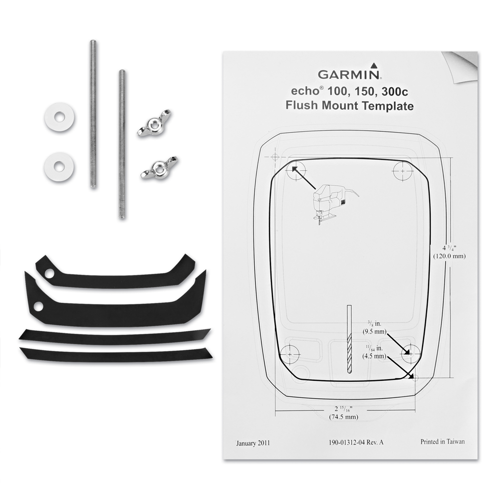 Garmin Flush Mount Kit f/echo™ 100, 150 & 300c