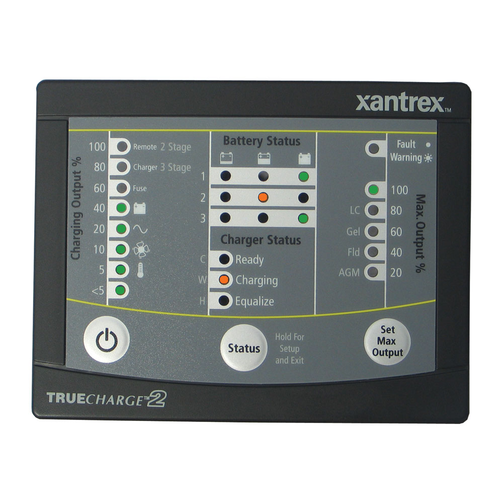Xantrex TRUE<i>CHARGE</i>™2 Remote Panel f/20 & 40 & 60 AMP (Only for 2nd generation of TC2 chargers)