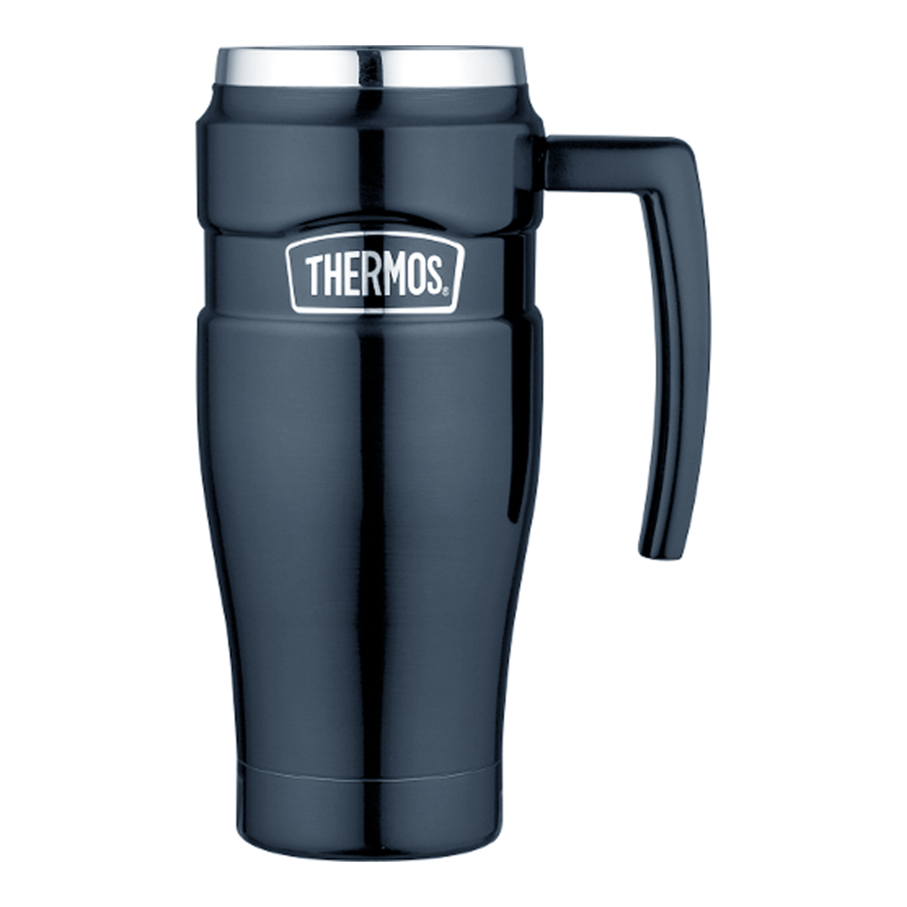 Thermos Stainless King™ Vacuum Insulated Travel Mug - 16 oz. - Stainless Steel/Midnight Blue