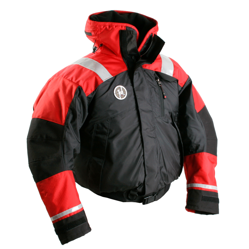First Watch AB-1100 Flotation Bomber Jacket - Red/Black - Medium
