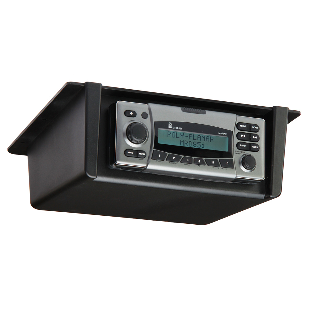 PolyPlanar Radio Mount Underdash/Overhead - Black
