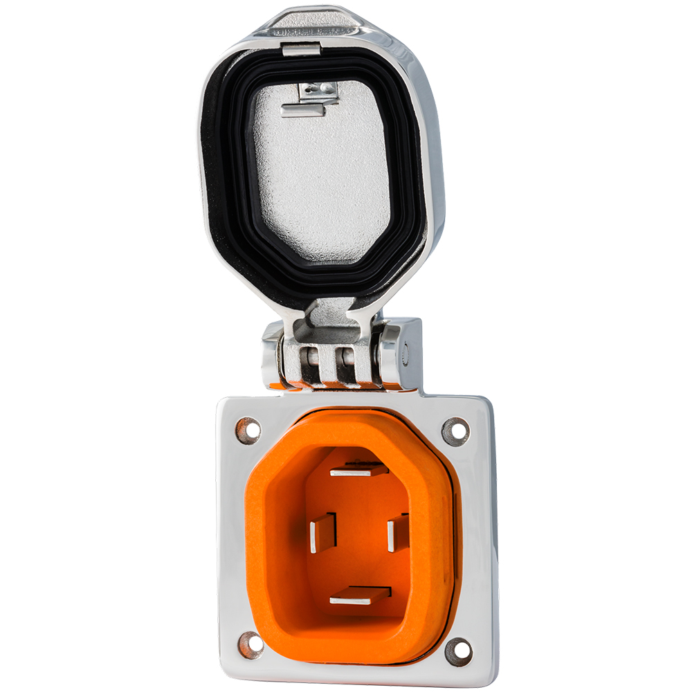 SmartPlug 50 Amp Boat & RV Inlet - Stainless Steel