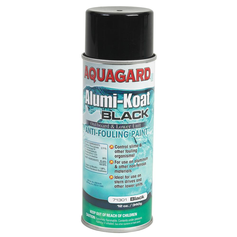 Aquagard II Alumi-Koat Spray f/Outboards & Outdrives - 12oz - Black