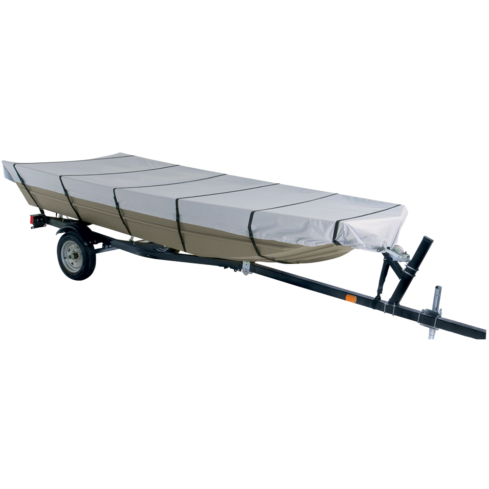 Dallas Manufacturing Co. 300D Jon Boat Cover - Model C - Fits 16' w/Beam Width to 75
