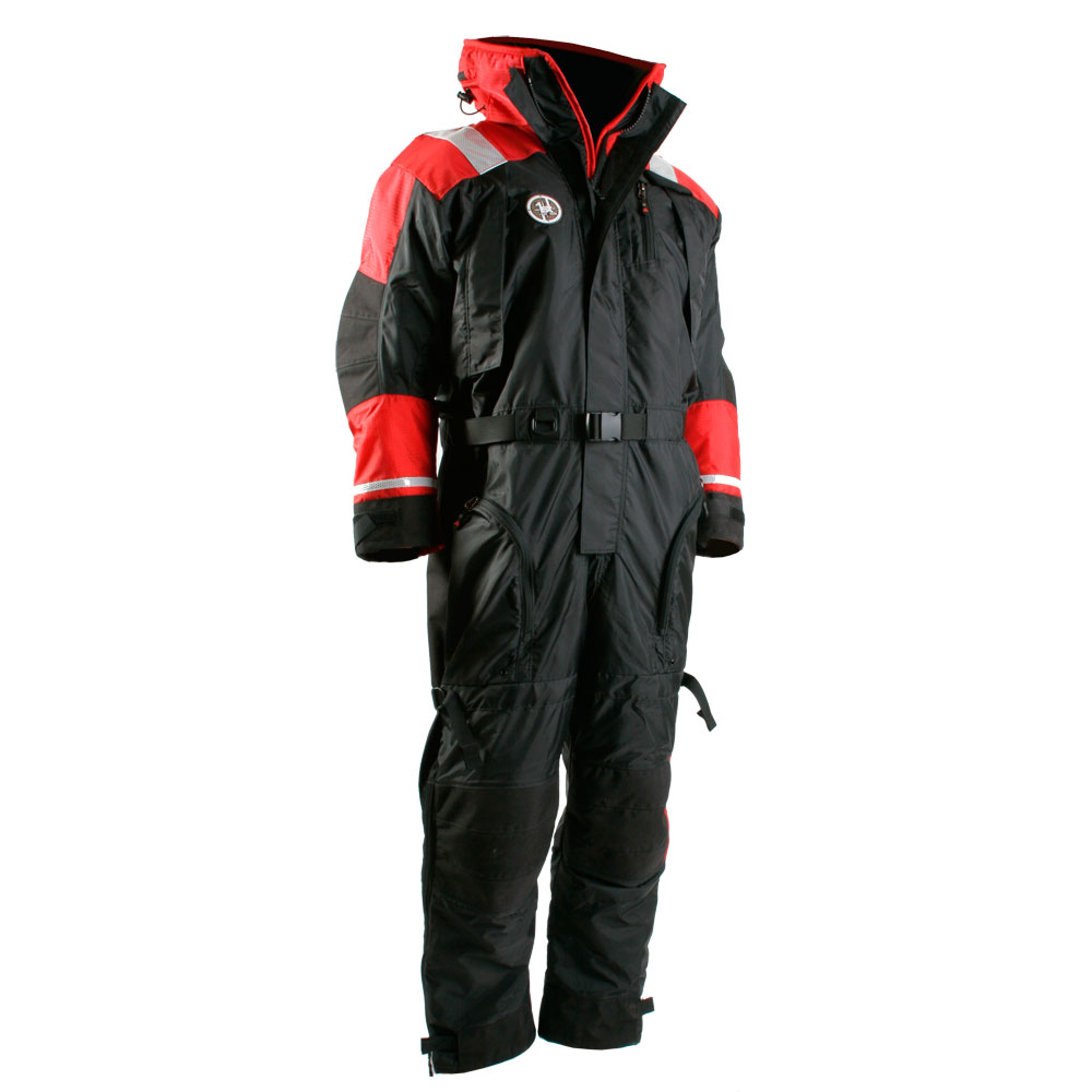 First Watch Anti-Exposure Suit - Black/Red - X-Large