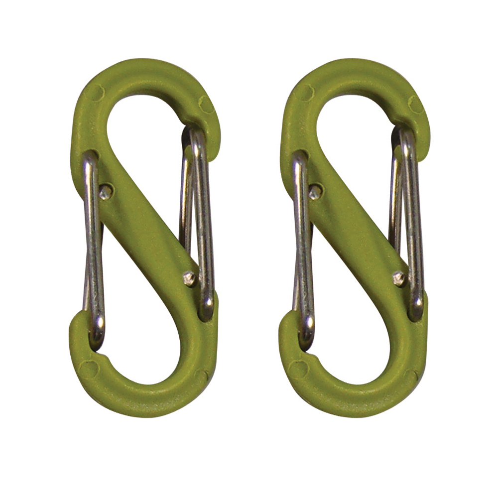 Nite Ize S-Biner Plastic Size #0 - Lime Green 2 Pack