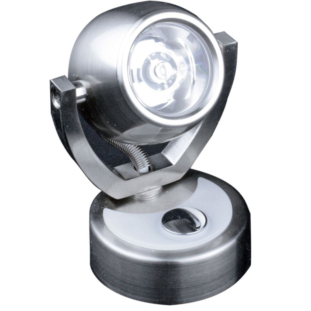 Lunasea Wall Mount LED Light w/Touch Dimming - Warm White/Brushed Nickel Finish - Rotating Light