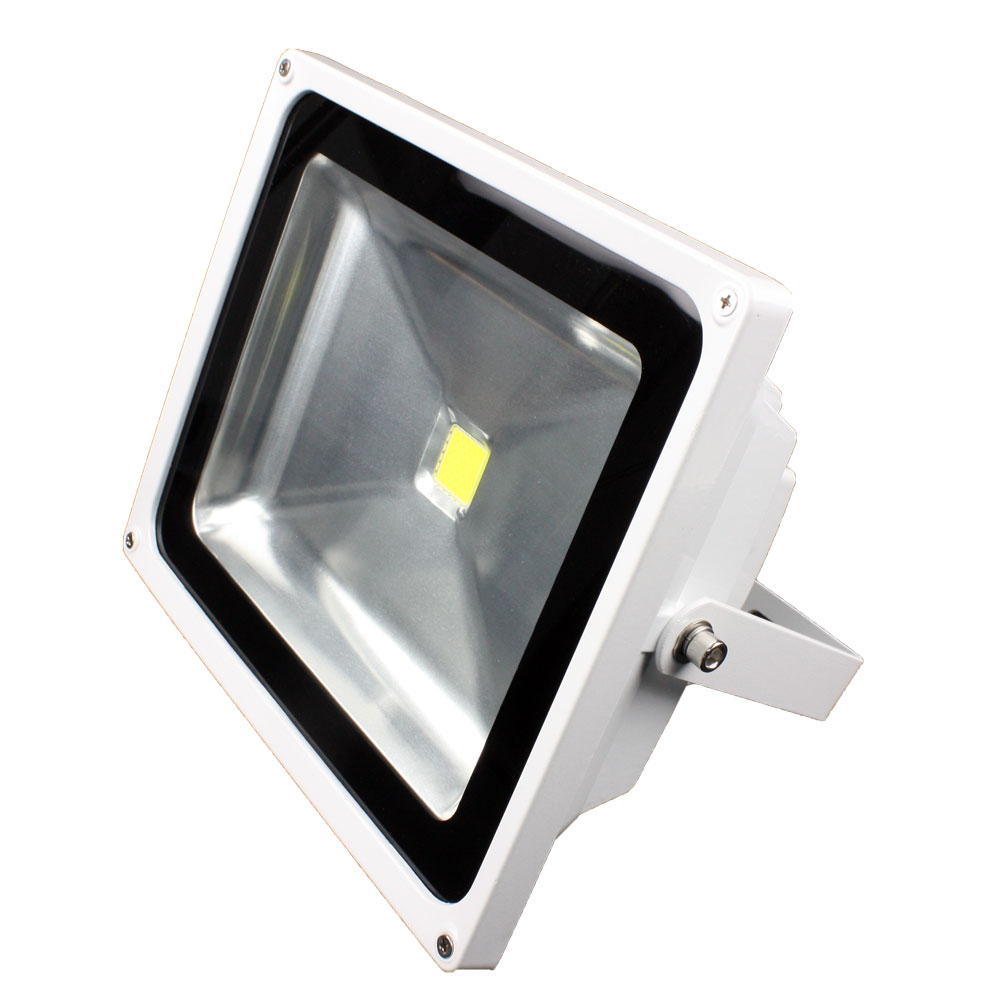 Lunasea Outdoor LED Flood Light - 85-265VAC/50W/4500 Lumens - Cool White