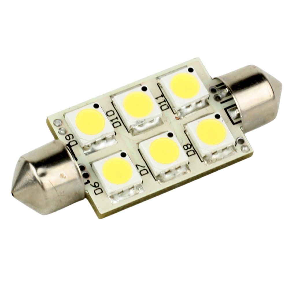 Lunasea Single-Sided 6 LED Festoon - 10-30VDC/1.5W/97 Lumens - Warm White