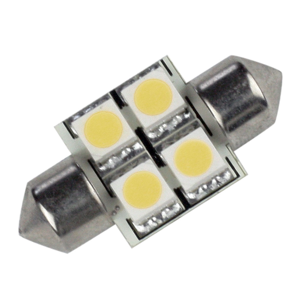 Lunasea Single-Sided 4 LED Festoon - 10-30VDC/0.7W/60 Lumens - Warm White
