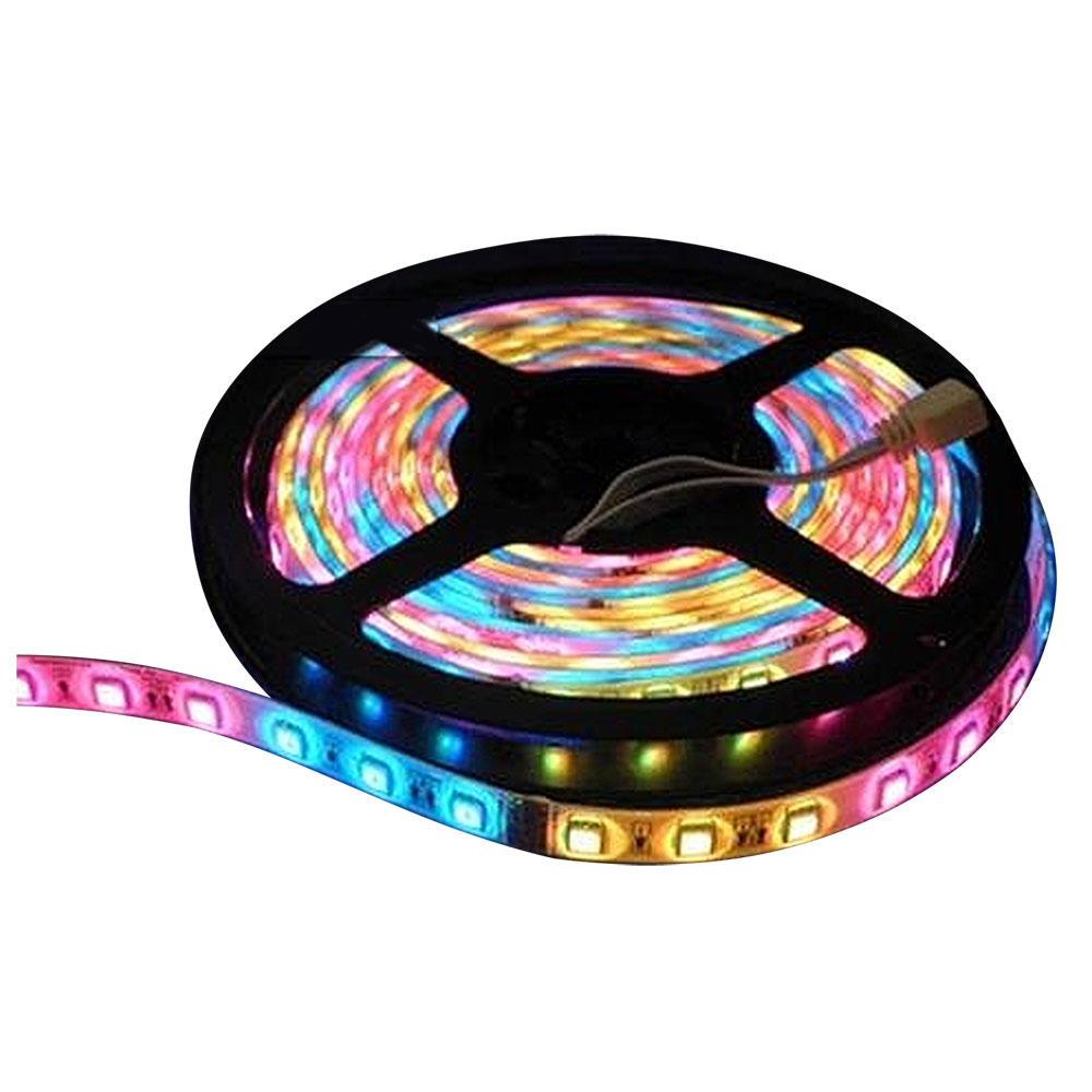 Lunasea Flexible Strip LED - 5M w/Connector - Red/Green/Blue - 12V