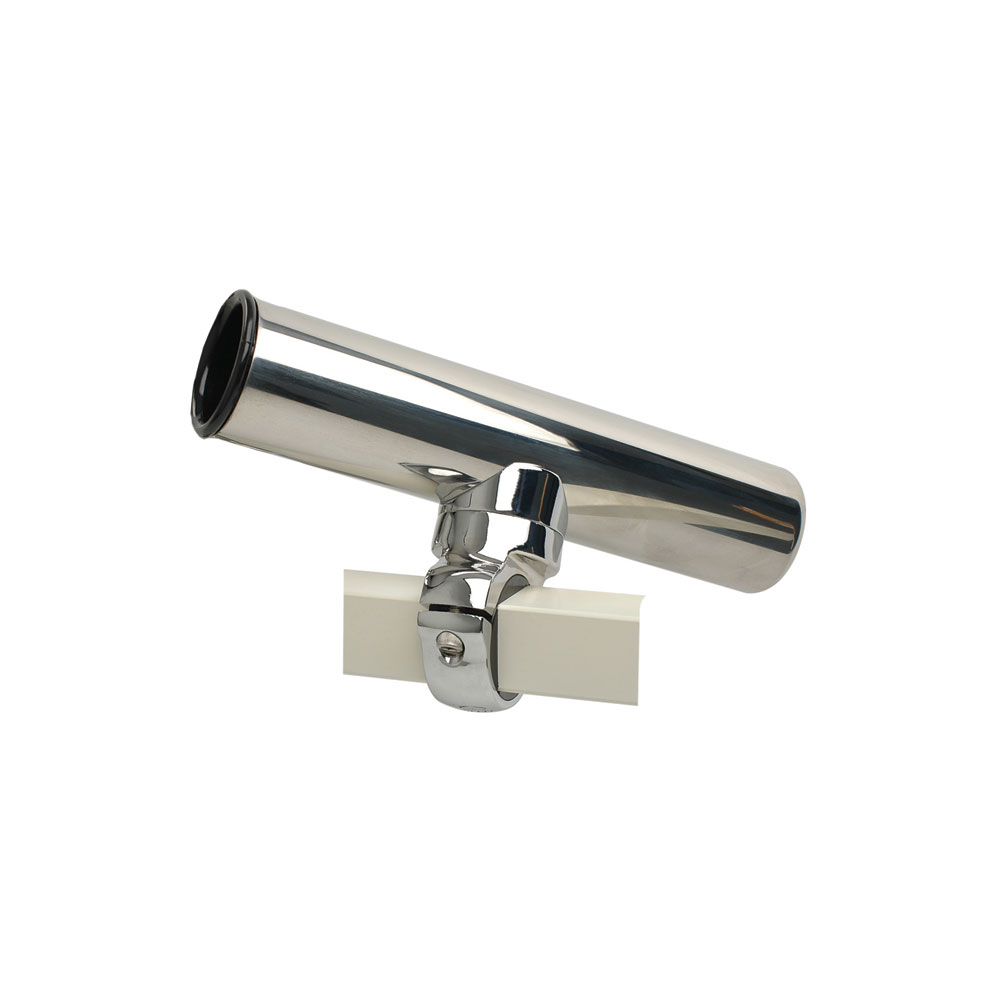 C e smith pontoon square rail adjustable clamp on rod holder for Fishing rod holders for pontoon boats