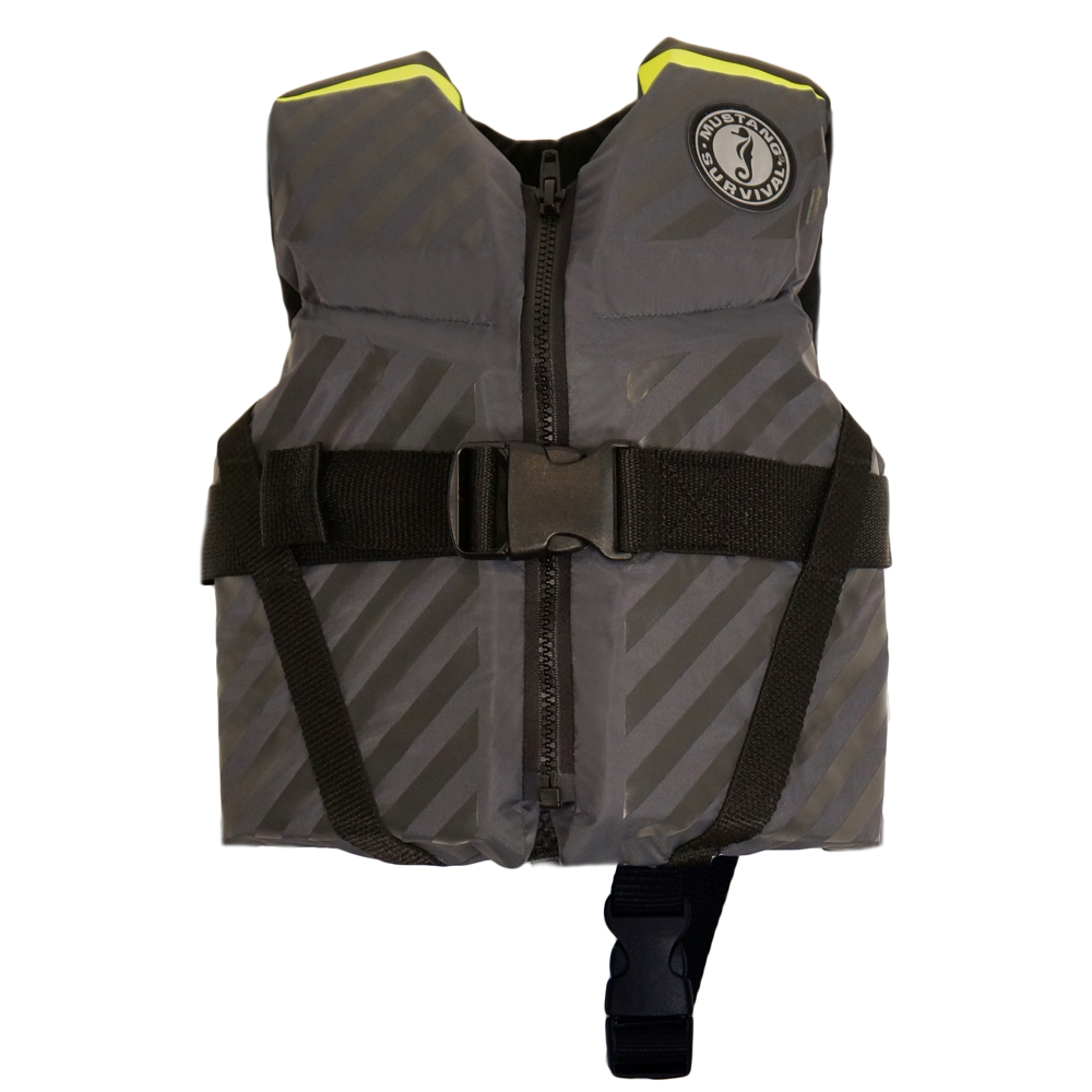 Mustang Lil' Legends 70 Child Vest - 30-50lbs - Fluorescent Yellow-Green/Gray