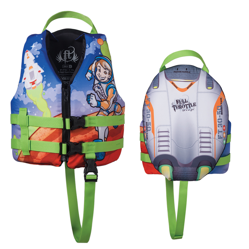 Full Throttle Water Buddies Vest - Child 30-50lbs - Astronaut