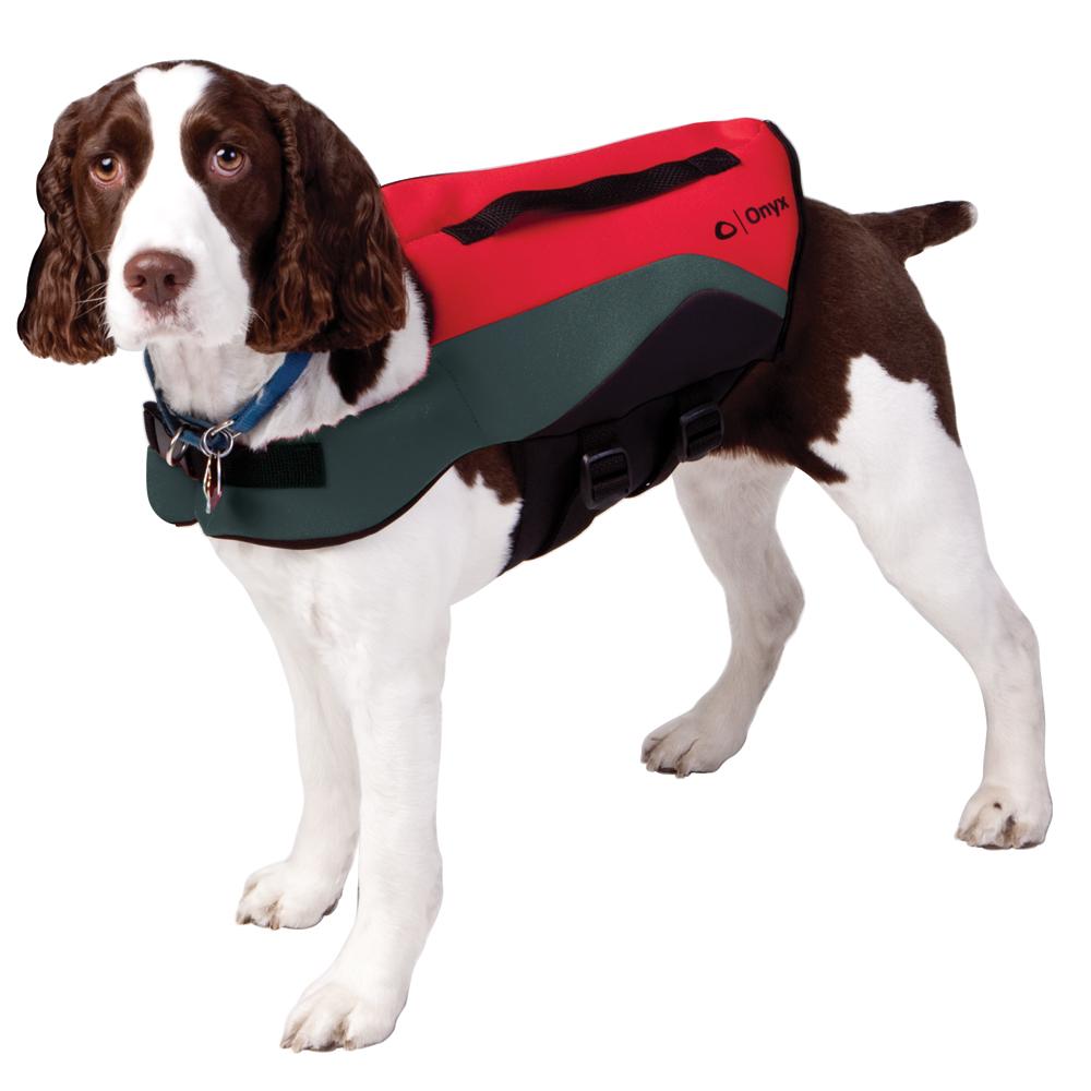 Onyx Neoprene Pet Vest - Small - Red/Grey