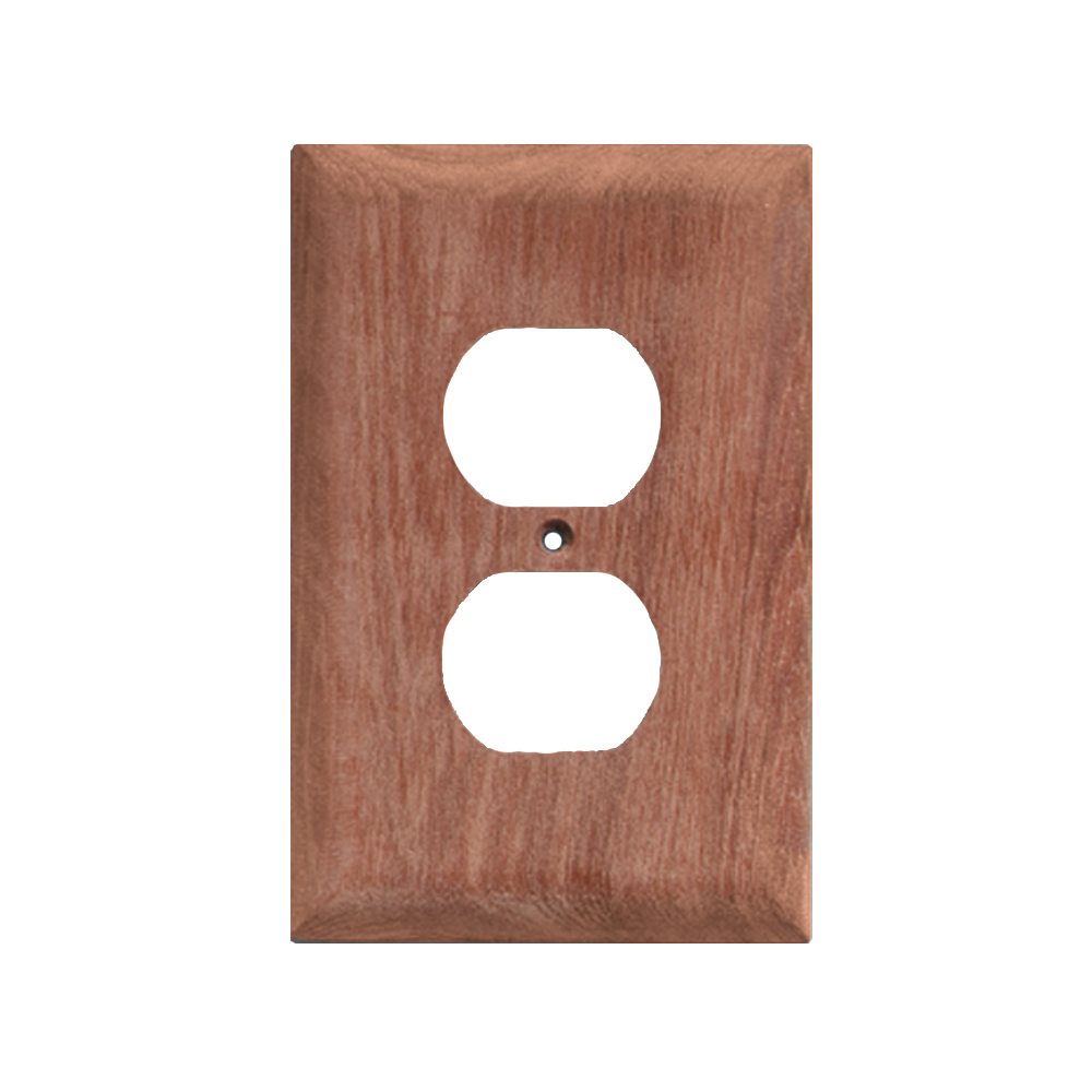 Whitecap Teak Outlet Cover/Receptacle Plate - 2 Pack