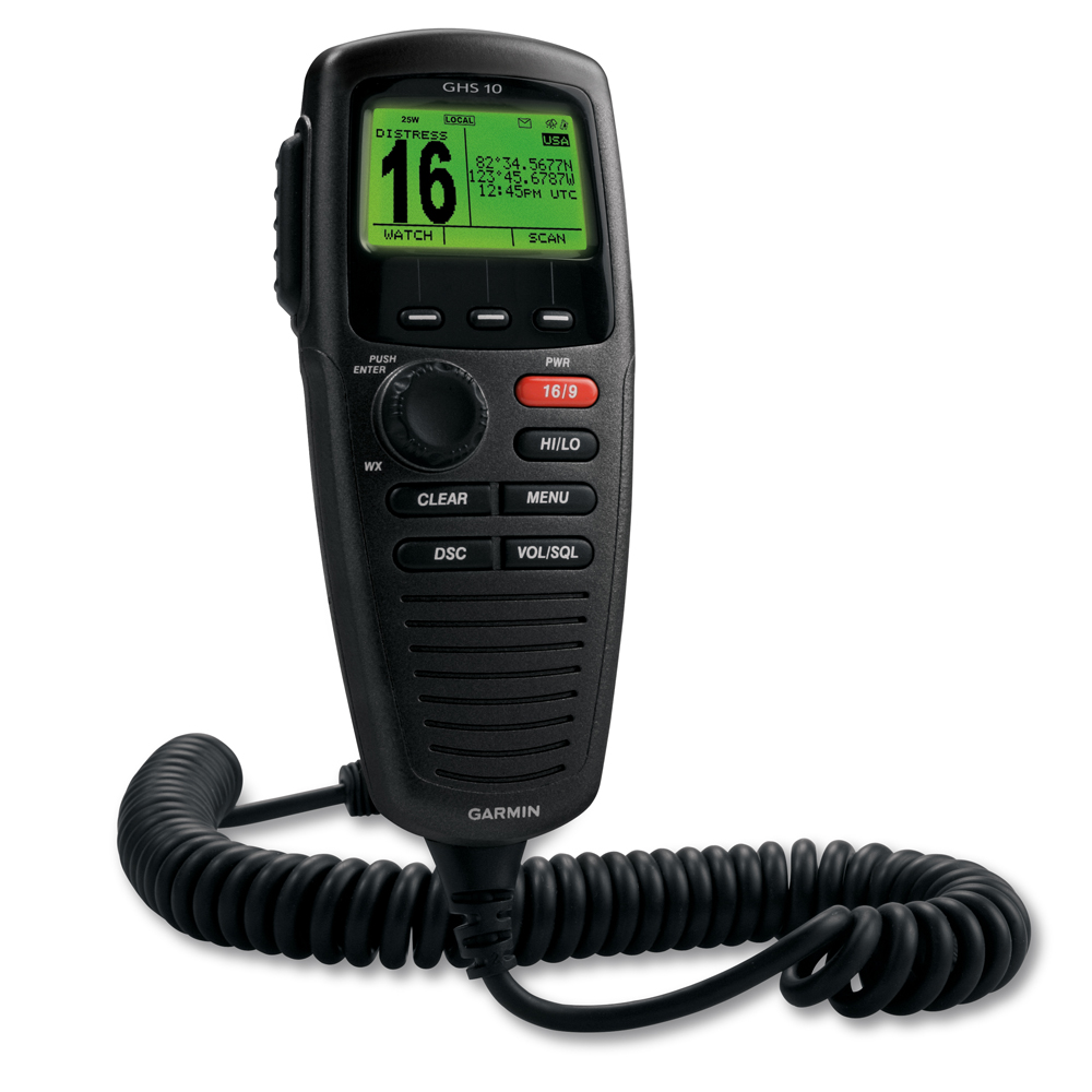 Garmin GHS™ 10 Wired VHF Handset - Black